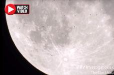 پرواز همزمان دهها یوفو از روی ماه!