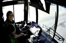 تصادف دو اتوبوس درون شهری به دلیل بریدن ترمز