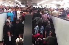 حادثهای وحشتناک در مترو به دلیل ازدحام بیش از حد جمعیت